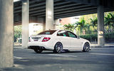 Обои: Mercedes, White, Road, Bridge, Mercedes-Benz, Street, AMG, C63, Wheels, Sedan, Tuning, Palm, Power
