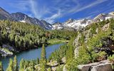 Обои: лес, Long Lake, озеро, Little Lakes Valley, горы, John Muir Wilderness, California, Калифорния