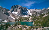 Обои: Third Lake, горы, склоны, John Muir Wilderness, деревья, Temple Crag, озеро, Palisades Glacier, Калифорния, California