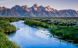 Обои: Grand Teton National Park, США, штат Вайоминг, USA, Wyoming, Национальный Парк, lake, озеро, mountains, горы, Гранд-Титон