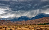 Обои: горы, near Bishop, дождь, Nevada, Eastern Sierra, пустыня, муссон, CA