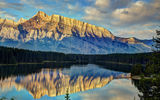 Картинки_для_телефона: Two Jack Lake, Banff National Park, пейзаж, Alberta, горы, озеро, Canada, лес