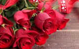 Обои: красные розы, roses, valentine's day, букет, red, love, romantic, heart