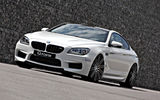 Обои: front, coupe, tuning, BMW, g-power, m6, white, f13