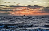 Обои: Sunset, The Wash, Hunstanton beach