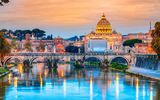 Обои: city, Italy, Рим, travel, basilica, view, Europe, panorama, город, Vatican, Cathedral, Rome, Италия
