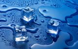Обои: water, Ice cubes, solid state, liquid