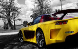 Обои: Mazda, Tuning, Back, Trees, Veilside, Rx-7, Yellow