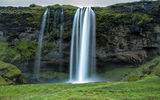 Обои: Seljalandsfoss Waterfall, Исландия, поток, водопад Селйяландсфосс, скала, Iceland