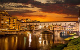 Обои: Night, lights, city, Florence, Венеция, Старый мост, город, Sunrise, Италия красивая, Venice, Флоренция, Ночь, Sunrise, огни, реки Арно, river Arno, Old Bridge, beautiful italy, здания, buildings