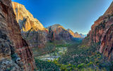 Обои: скалы, каньон, Zion National Park, Virgin River valley, горы
