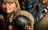Обои: Blonde, Viking, Dragon, Girl, Eyes, Backround, Astrid, Action, Beautifull, Dark, Hair, Comedy, How to Train Your Dragon 2, Adventure, DreamWorks, Movie, Helmet, Family, America Ferrera, Film, Fantasy, 2014, Animation, Armor, Blue