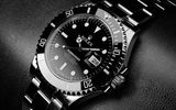 Картинки на телефон: Titanium, Rolex, silver, elegant, black, black leather, watch