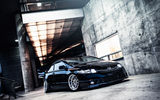 Обои: honda, si, civic, black, сивик, хонда, stance, черный