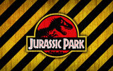Обои: logo, red, bones, yellow, jurassic park, black