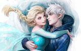 Обои: Jack Frost, Winter Spirit, Elsa, Frozen, Snow Queen, Rise of the Guardians, Холодное сердце