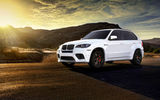 Обои: BMW, wheels, white, frontside, X5M, tuning