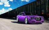 Обои: Chrysler, 300, frontside, wheels, purple, vossen