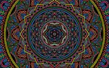 Обои: color, colorful, texture, selective coloring, Mandala