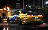 Обои: supra, toyota, lights, yellow, underground
