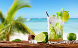 Обои: tropical, лайм, fresh, море, мохито, mojito, drink, коктейль, lime, cocktail