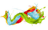 Обои: paint, краска, splash, design, colors, брызги, капли