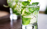 Обои: коктейль, mint leaves, ice, cocktail, lime, лед, лайм, листья мяты