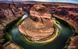 Обои: Grand Canyon National Park, скалы, Horseshoe Bend, река Колорадо, Подкова, природа, каньон