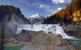 Обои: Wapta Falls, Canada, Канада, Yoho National Park, British Columbia, водопад, горы, Kicking Horse River