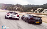 Обои: McLaren, Spider, P1, Rear, Speed, Spoilers, Sun, 918, Supercars, Porsche, Top Gear