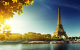Обои: Paris, autumn, Париж, leaves, Eiffel Tower, осень, France