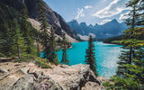 Обои: озеро, горы, Banff, Moraine Lake, Канада, Canada, лес