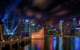 Обои: Marina Bay Sands, Singapore, ночь