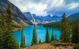 Обои: Moraine, горы, озеро, Canada, Banff National Park