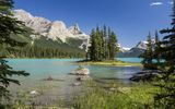 Обои: Канада, Maligne Lake, Jasper National Park, Альберта