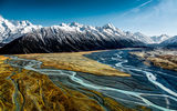 Обои: Hooker Valley, небо, горы, Aoraki Mount Cook, National Park