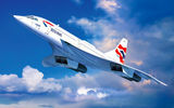 Обои: Concorde British Airways, aviation, jet, airplane, art, painting