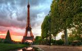 Обои: France, Paris, Eiffel Tower, Эйффелевая Башня, morning, night, Париж