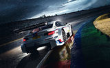 Обои для рабочего стола: Morning, Rain, Track, DTM, White, Team, Competition, M Power, Race, BMW