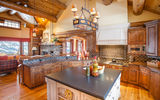 Обои: log home, interior, kitchen