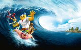 Обои: The SpongeBob Movie: Sponge Out of Water, Губка Боб, волна, Sponge Out of Water, The SpongeBob Movie, океан
