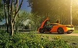Обои для рабочего стола: McLaren, Wheels, MP4-12C, Orange, Sun, ADV.1, Supercar, Rear