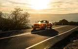 Обои: Ford, Aristo Collection, Orange, Sunset, 2015, California, Mustang, Sun, Landscape, Mountains