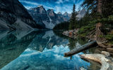Обои: moraine lake, forest, alberta, mountain, banff, canada