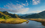 Обои: lake kaweah, mountain, sky, usa, california