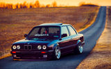 Обои: BMW, Beam, Stance, Front, Ligth, Dapper, Car, Black, Sun, E30