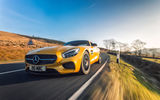 Обои для рабочего стола: 2015, UK-spec, GT S, Mercedes, AMG, желтый, C190, мерседес, амг