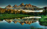 Обои для рабочего стола: Beaver, Grand, Landscapes, Ponds, Reflections, Park, National, Hole, Jackson, Teton