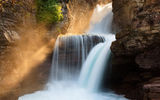 Обои: St. Mary Falls, Glacier National Park, лес, Montana, природа, водопад