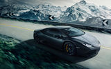 Обои: Lamborghini, Road, Speed, LP640-4, Huracan, Mountain, Black, Supercar